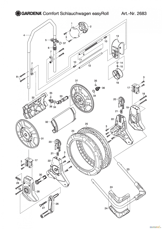 gardena wassertechnik schlauchwagen comfort schlauchwagen easyroll ersatzteile online bestellen. Black Bedroom Furniture Sets. Home Design Ideas
